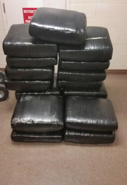 Packages containing 409 pounds of marijuana seized by CBP officers at Brownsville Port of Entry