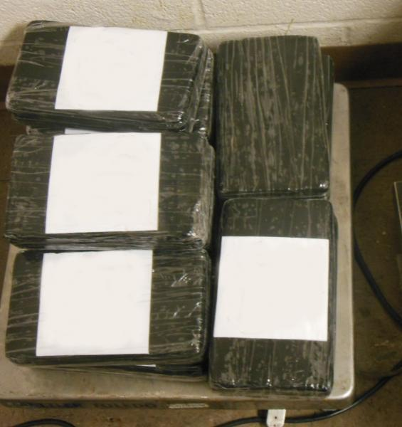 Packages containing 29 pounds of cocaine seized by CBP officers at Brownsville Port of Entry