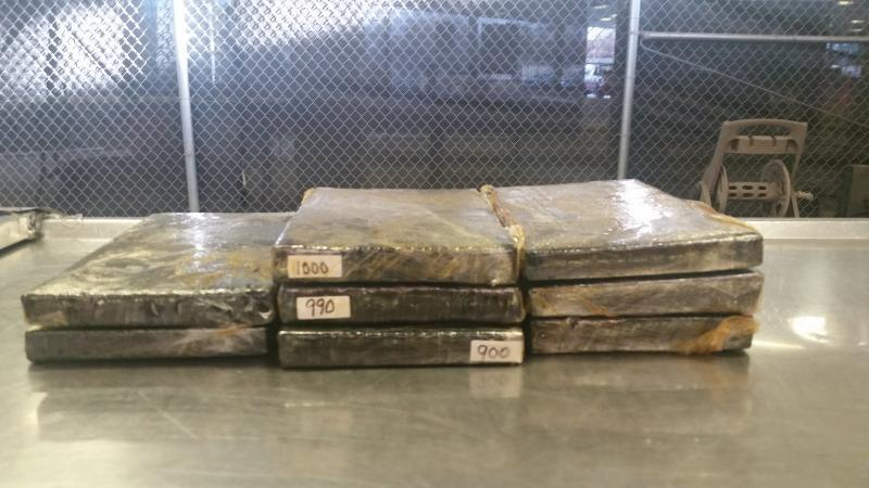 Packages containing 19 pounds of heroin seized by CBP officers at Laredo Port of Entry