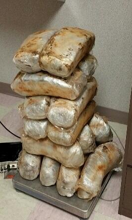 Packages containing 100 pounds of marijuana seized by CBP officers at Brownsville Port of Entry