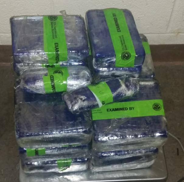 Packages containing 77 pounds of methamphetamine seized by CBP officers at Brownsville Port of Entry