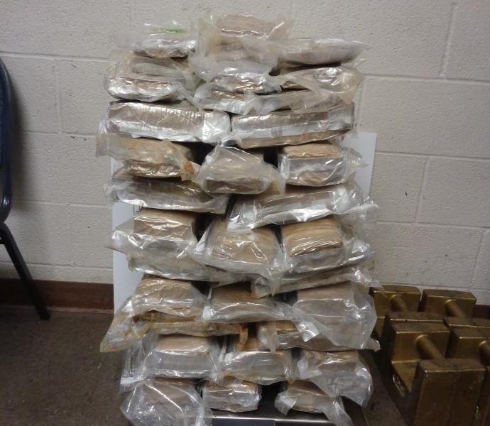 Packages containing 114 pounds of marijuana at Brownsville Port of Entry