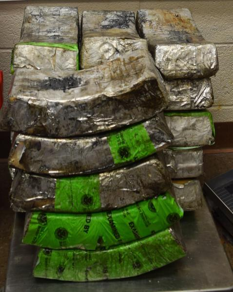 Packages containing 137 pounds of methamphetamine seized by CBP officers at Brownsville Port of Entry
