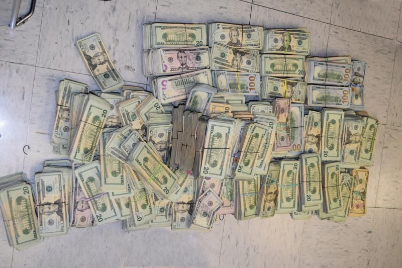 CBP officers seized a total of $644,285 in unreported currency within a vehicle at Brownsville Port of Entry