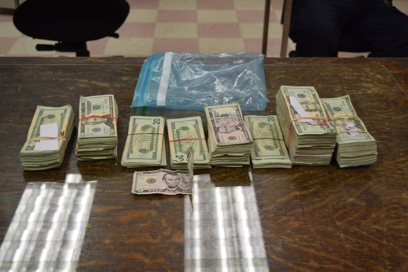 Stacks containing $46,085 in unreported currency seized by CBP officers at Bronwsville Port of Entry