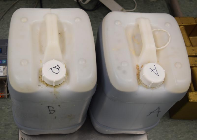 Containers filled with nearly 100 pounds of methamphetamine seized by CBP officers at Brownsville Port of Entry