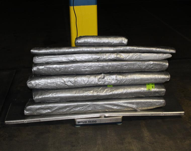Packages containing 226 pounds of methamphetamine seized by CBP officers at World Trade Bridge
