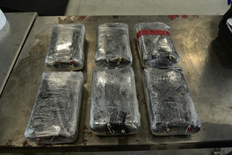 Packages containing 28 pounds of fentanyl seized by CBP officers at Laredo Port of Entry