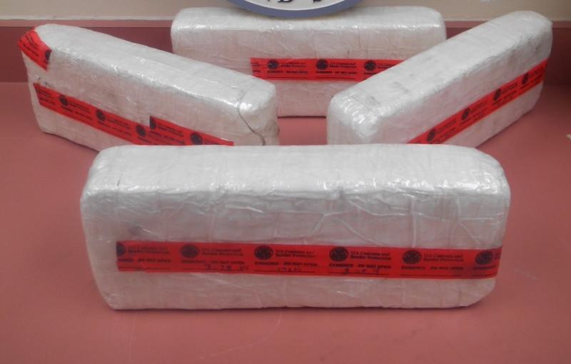 Packages containing 29 pounds of methamphetamine seized by CBP officers at Laredo Port of Entry