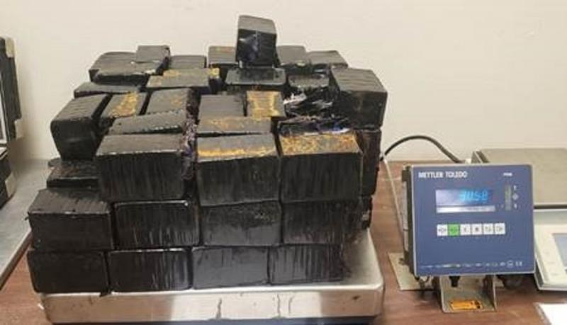 Packages containing 67 pounds of methamphetamine seized by CBP officers at Hidalgo International Bridge