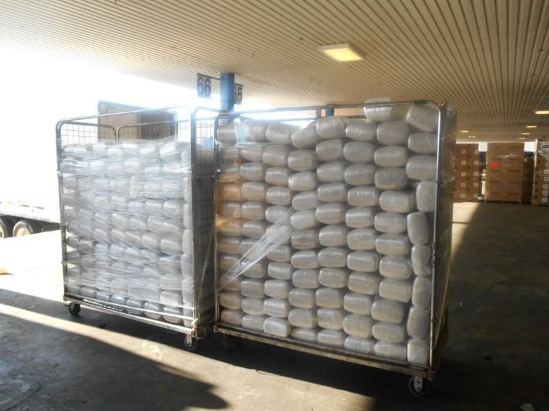 Stacks of packages containing 3,139 pounds of marijuana seized by CBP officers at World Trade Bridge