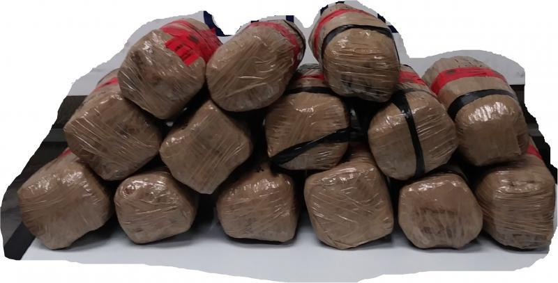 Packages containing 34 pounds of methamphetamine seized by CBP officers at Laredo Port of Entry