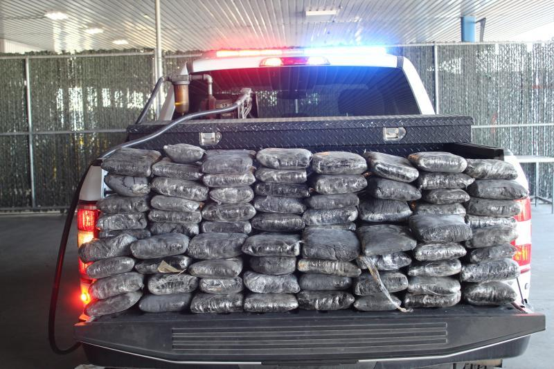 Packages containing 367 pounds of methamphetamine seized by CBP officers at World Trade Bridge