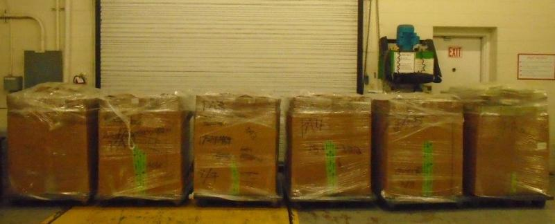 Packages containing 4,739 pounds of marijuana seized by CBP officers at World Trade Bridge