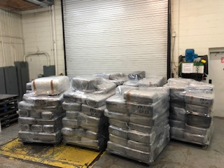 Packages containing 5,280 pounds of marijuana seized by CBP officers at World Trade Bridge