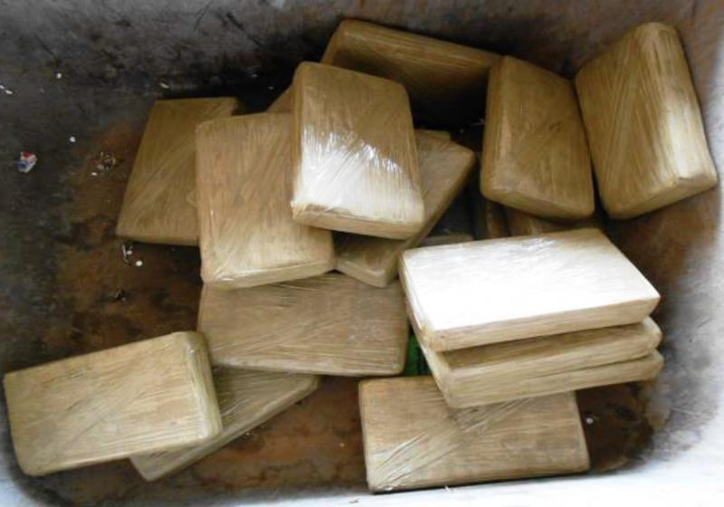 Packages containing 55.5 pounds of cocaine seized by CBP officers at Hidalgo International Bridge