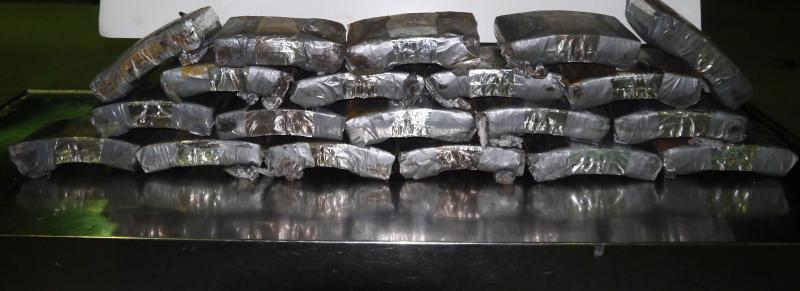 Packages containing 55 pounds of cocaine seized by CBP officers at Rio Grande City Port of Entry