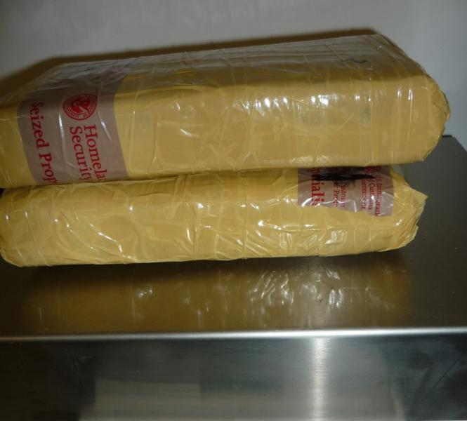 Packages containing five pounds of cocaine by CBP officers at Eagle Pass Port of Entry