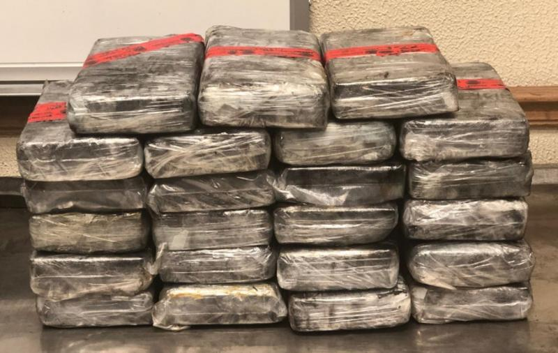 Packages containing 62 pounds of cocaine seized by CBP officers at Laredo Port of Entry