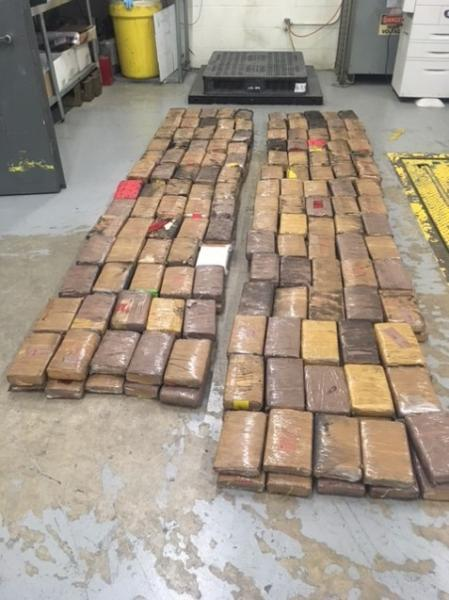 Packages containing 733 pounds of cocaine seized by CBP officers at Laredo Port of Entry