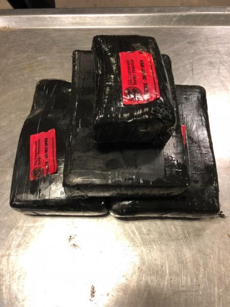 Packages containing eight pounds of cocaine seized by CBP officers at Laredo Port of Entry