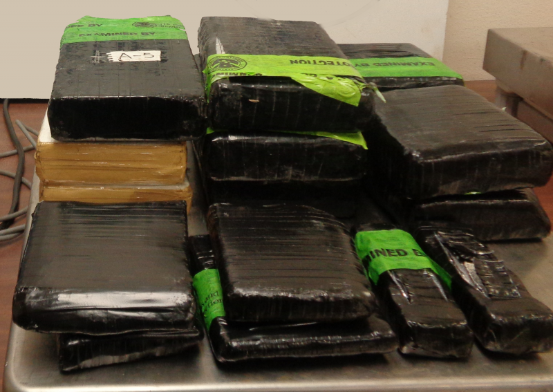 Packages containing nearly 22 pounds of cocaine seized by CBP officers at Hidalgo International Bridge