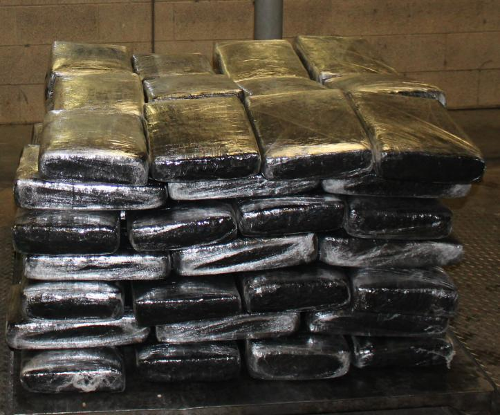 Packages containing 919 pounds of marijuana seized by CBP officers at Pharr International Bridge