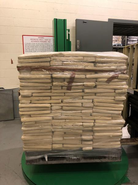 Packages containing 930 pounds of marijuana seized by CBP officers at World Trade Bridge