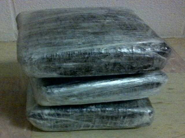 bundles containing 9.2 pounds of methamphetamine seized by CBP officers at Brownsville Port of Entry