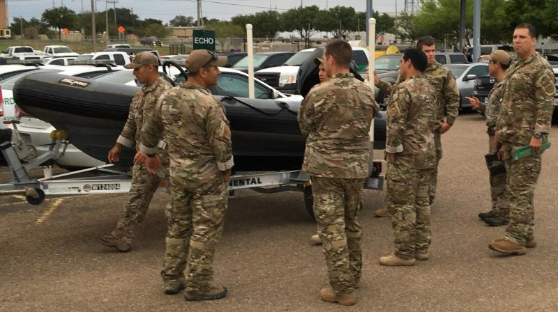 BORSTAR agents from LaredoS ector prepare to deploy to North Carolina to aid in swift water rescue, urban search and rescue missions anticipated in the aftermath of Hurricane Florence