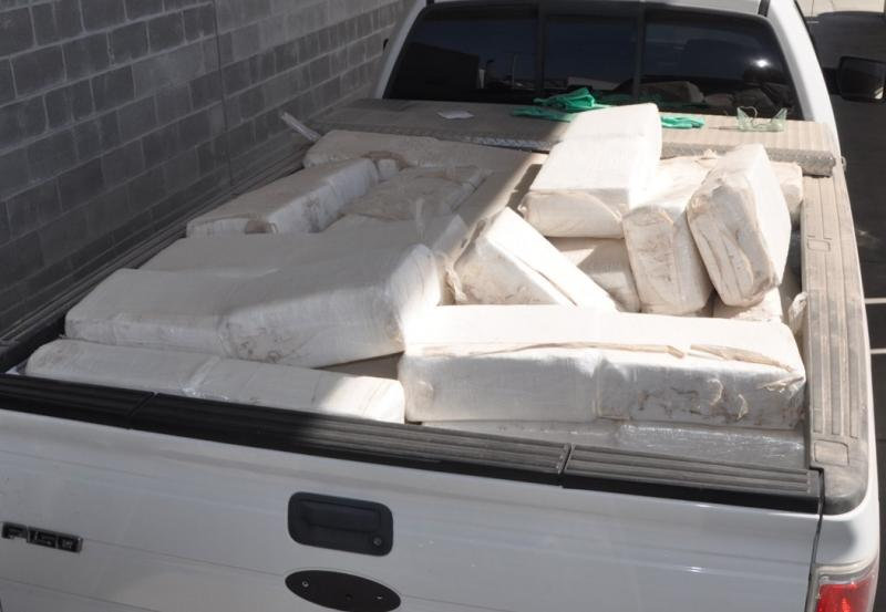 Bundles containing part of a total of 12,174 pounds of marijuana interdicted by CBP officers in multiple seizures at Brownsville Port of Entry
