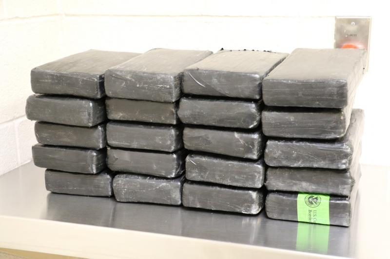 Packages containing 62 pounds of cocaine seized by CBP officers at Brownsville Port of Entry
