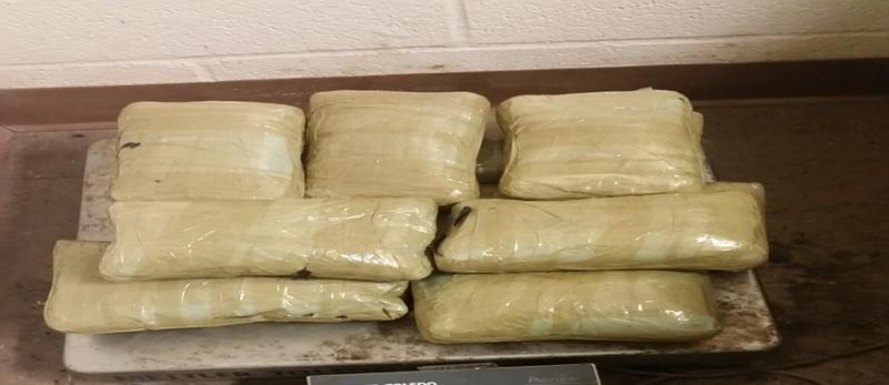 Bundles containing heroin and methamphetamine valued at $526,000 seized by CBP officers at Brownsville Port of Entry.