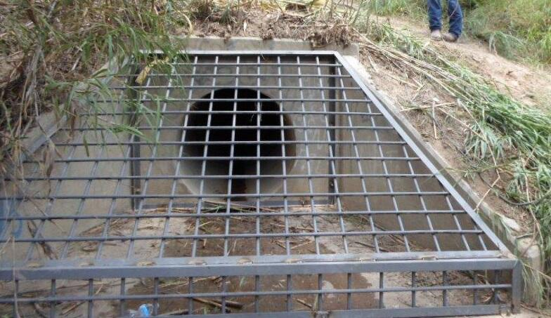 Metal grates like this one will be installed on storm drains in the Laredo area, preventing their exploitation as smuggling routes by transnational criminal organizations