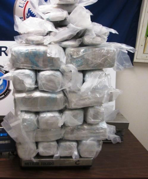 Packages containing nearly 130 pounds of marijuana seized by CBP officers at Hidalgo/Pharr/Anzalduas Port of Entry