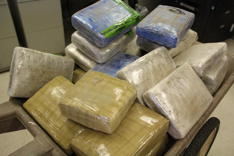 Packages containing 212 pounds of marijuana seized by CBP officers at Hidalgo/Pharr/Anzalduas Port of Entry