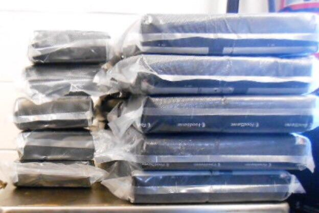Packages containing 62 pounds of cocaine seized by CBP officers at Hidalgo International Bridge