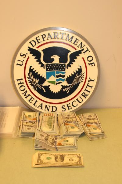 Stacks of bills totaling $40,091 in unreported currency were recently seized by CBP officers at Bush Intercontinental Airport in Houston in an outbound seizure