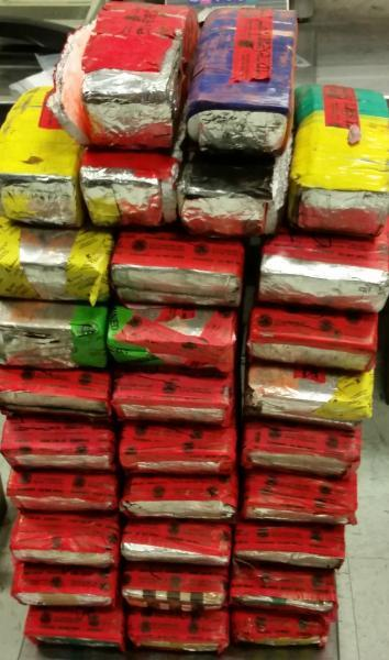 Packages containing 137 pounds of methamphetamine, 48 pounds of heroin seized by CBP officers at Laredo Port of Entry