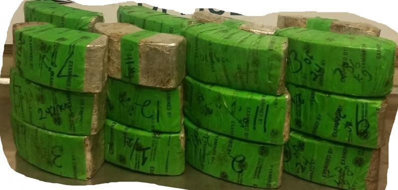 Packages containing 127 pounds of methamphetamine seized by CBP officers at Laredo Port of Entry