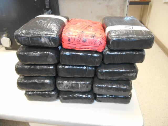 Packages containing 41 pounds of cocaine seized by CBP officers at World Trade Bridge