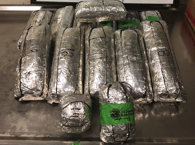 Packages containing 45 pounds of methamphetamine  seized by CBP officers at Laredo Port of Entry