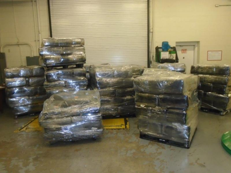 Packages containing 8,905 pounds of marijuana seized by CBP officers at World Trade Bridge