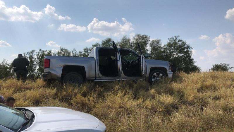 Laredo Sector Border Patrol agents apprehended 10 illegal aliens that had absconded from a vehicle on an access road just north of the Interstate 35 Checkpoint in Laredo, Texas