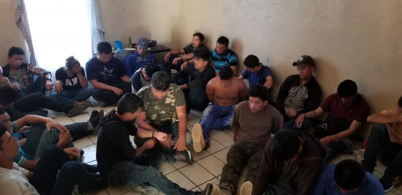 Border Patrol agents discovered 38 illegal aliens in deplorable conditions within a stash house in Laredo
