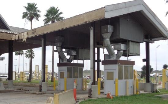Renovations will be made to repair and refurbish the canopy and roofing at Los Indios International Bridge.
