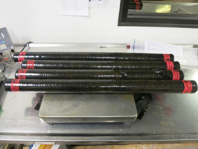 Packages containing 38 pounds of methamphetamine seized by CBP officers at Laredo Port of Entry