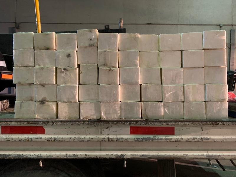 Packages containing 333 pounds of methamphetamine seized by CBP officers at World Trade Bridge