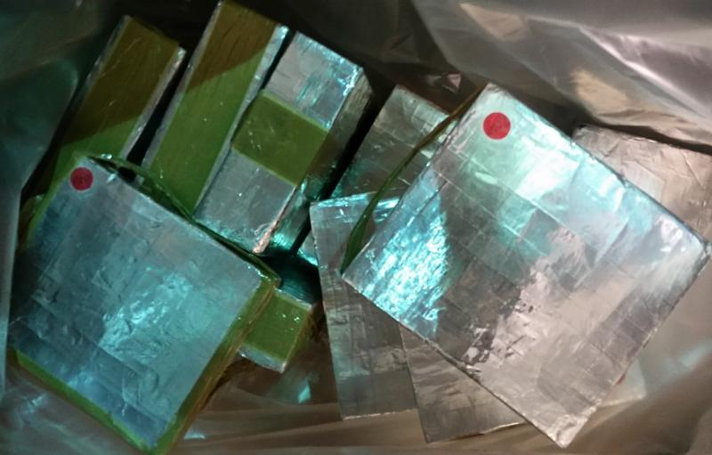 Packages containing 103 pounds of methamphetamine seized by CBP officers at Brownsville Port of Entry