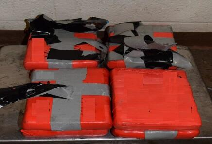 Packages containing 20.68 pounds of cocaine seized by CBP officers at Brownsville Port of Entry